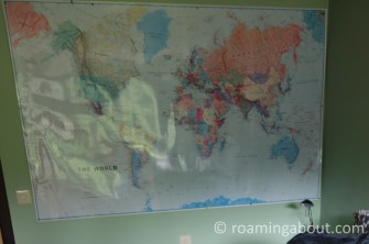 The world map - my best friend since being a teenager