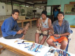 Visit to a local high school in the Marquesas