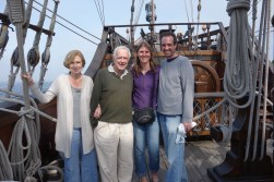 With Mark's parents on El Galeon