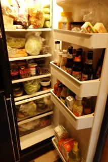 The fridge is big and bursting - oh joy of life on land!