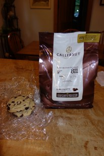 Dark Belgian chocolate chips. 5.5 pounds of it and hopefully enough for a year of homemade chocolate chip cookies