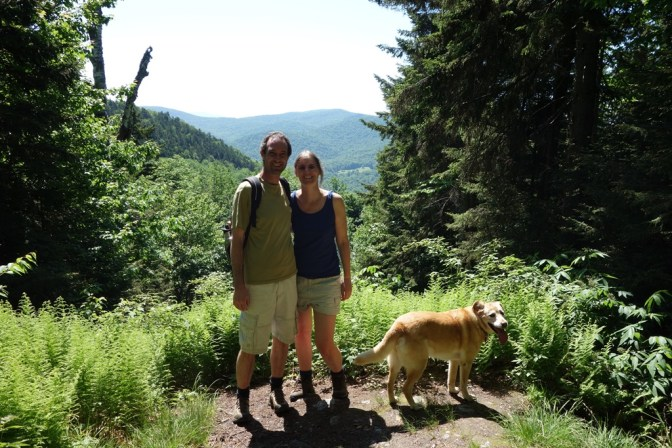 Vista on the trail - another couple was there to take a photo