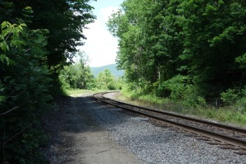 Train tracks through the Berkshire Hills