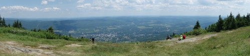 View over the valley and the town of Adams from the top
