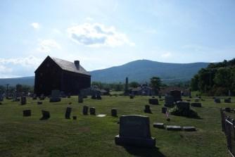 Mount Greylock behind the cemetery of Adams