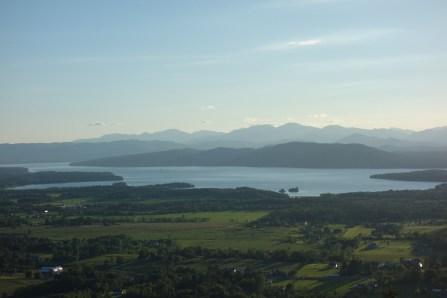 Lake Champlain before sunset