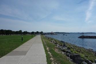 Waterfront park in Burlington
