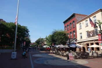 Church Street Marketplace, with the snobbish restaurant to the right