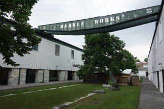The Marble Works mill and grounds are now a shopping center