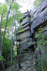 Pillars of rock along the Cadillac Cliffs Trail