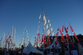 On our last day at the boat show, right before closing time, I finally took a few photos of the atmosphere,...