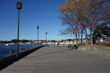 The waterfront in Newburyport, my favorite place for a walk there
