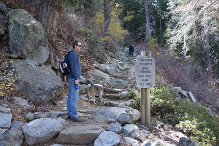 Before starting the hike, we had to fill out a wilderness permit - it sure was a busy wilderness!