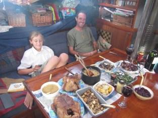Thanksgiving on SV Iona