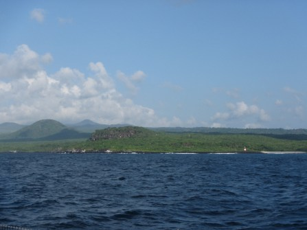 Arriving in the Galapagos Islands after a week long crossing from Panama