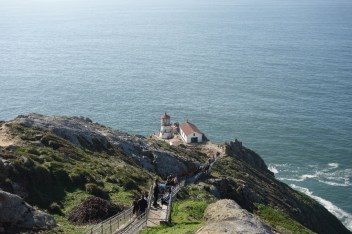 Many stairs lead to the lighthouse