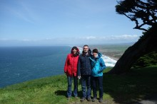 The family at Point Reyes