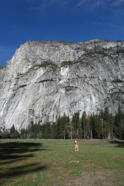Tall cliffs and a tiny Lola