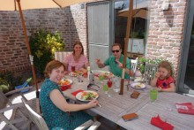 Lunch at my friends Rosy and Peter's home, with daughter Yanou
