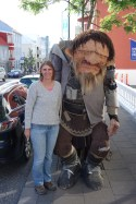 Meeting a big troll in Reykjavik