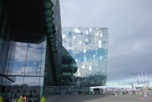 The modern Harpa Concert and Conference Center