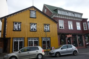 Colorful buildings in town