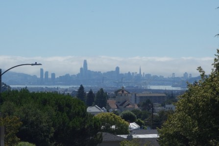 San Francisco seen from the hill around the corner