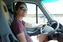 Taking turns at the wheel - it is fun to drive Zesty!