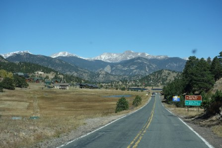 Approaching the town of Estes Park
