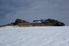Rocks and snow