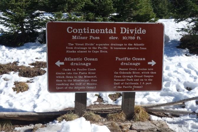 Continental Divide at Milner Pass