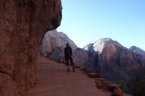 Partway up Angels Landing Trail