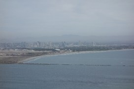 Cloudy view of the city and Coronado Island