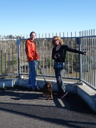 Walk with Terri and Aero in Sacramento, where she and husband Hans housed us for two nights