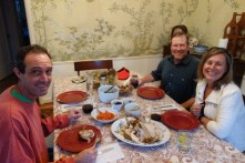 Christmas dinner with fellow RV/boating friends Alex and Dave