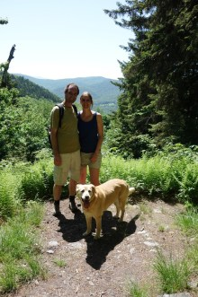 Mark, Liesbet and Jenny in the Berkshire Mountains, MA
