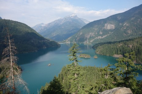 Diablo Lake from above