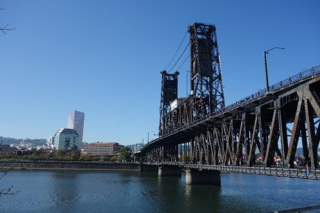 This bridge is my favorite and the one we took with our bikes. There is a separate lane for bikers and pedestrians.