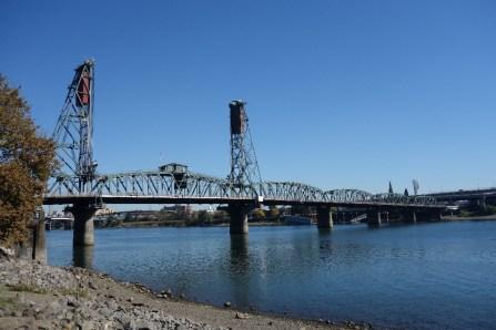 Quite a few bridges cross the Willamette River into downtown Portland.