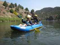 The first time for Mark and I to go whitewater kayaking.