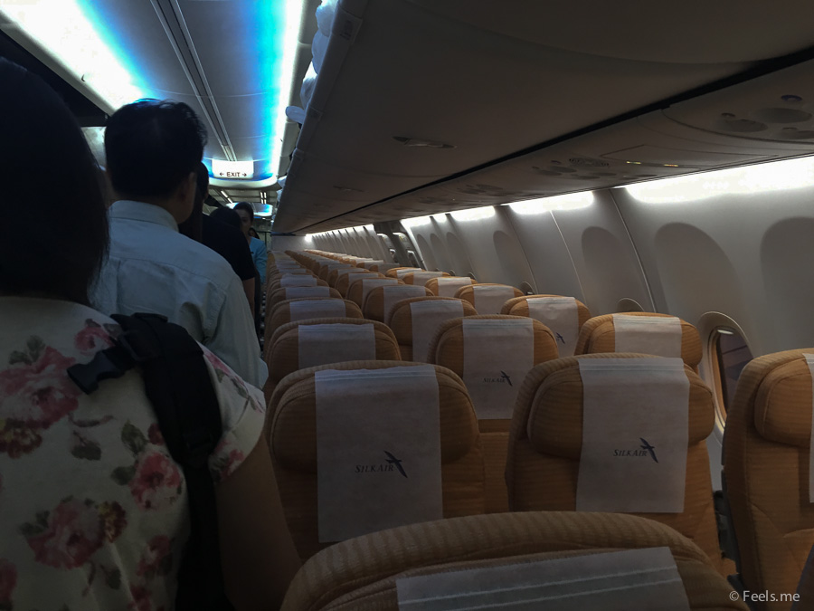 SilkAir SIN-KUL - It is a 3-3 configuration on this Boeing 737-800 plane