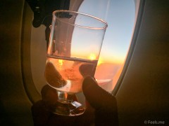 Singapore Airlines PVG SIN Premium Economy Cheers to sunset