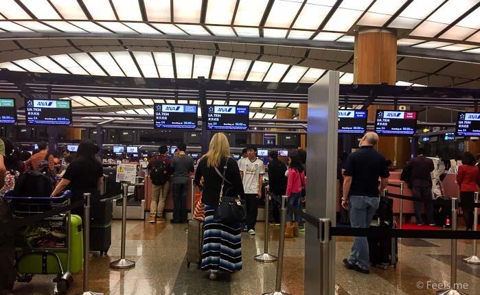 ANA: SIN NRT Premium Ecnonomy Checkin in at Singapore Changi's Terminal 2