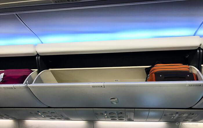 AS SEA SFO Economy Class Baggage compartment