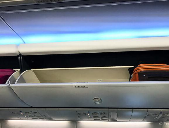 AS SEA SFO Economy Class Baggage compartment