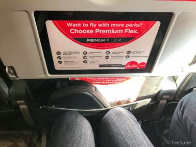 Air Asia SIN BKI Review Legroom