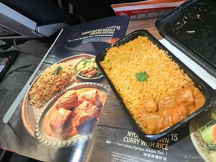 Air Asia SIN BKI Review Butter Masala Chicken Briyani