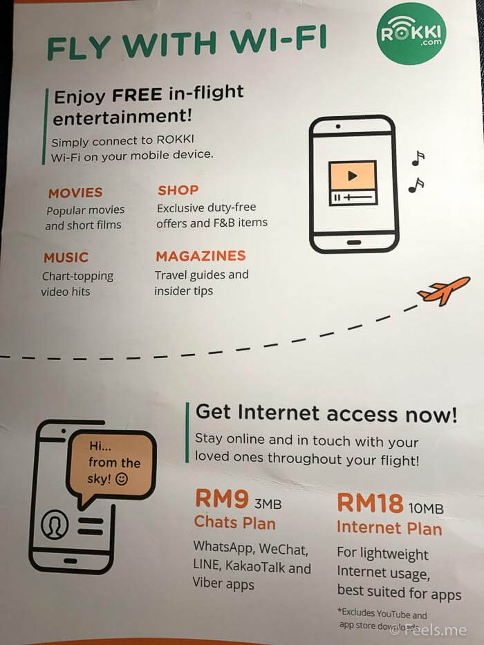 Air Asia SIN BKI Review Wifi plan