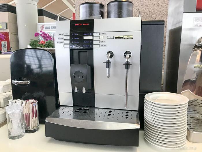 Air China Shanghai T2 Star Alliance Lounge Coffee machine