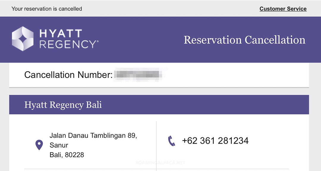 Hyatt Regency Bali Cancellation Dec 2018 003